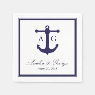 Nautical Navy Wedding Napkin