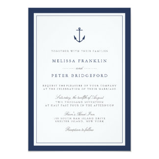 Anchor Invitations Announcements Zazzle