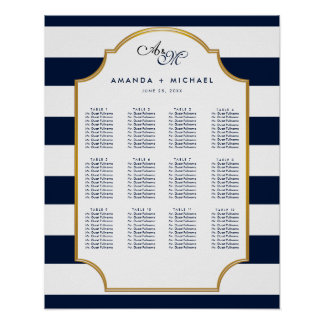 Nautical Navy | White Wedding Seating Chart