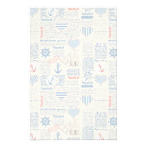 Nautical Newspaper Pattern Stationery