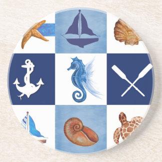 Nautical Ocean Designs Drink Coaster