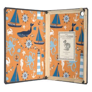 Nautical Ocean Orange iPad Air Cases