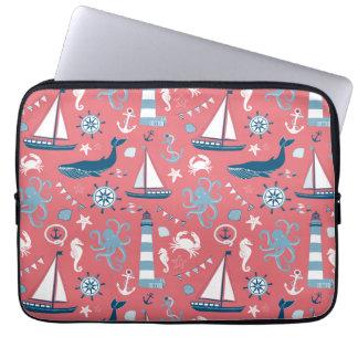 Nautical Ocean Rose Computer Sleeve