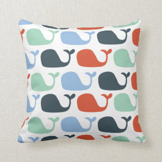 Nautical Ocean Whale Pillow