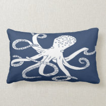 Nautical Octopus Lumbar Pillow