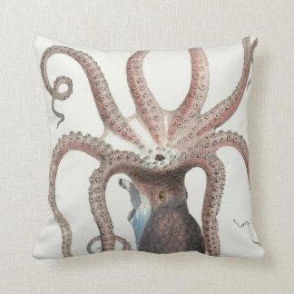 Nautical Octopus/Squid Design/Decor Throw Pillow
