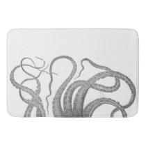 Nautical octopus tentacles vintage kraken steampun bathroom mat