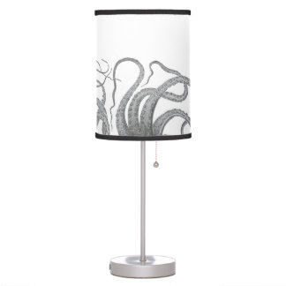 Nautical octopus tentacles vintage kraken steampun table lamp
