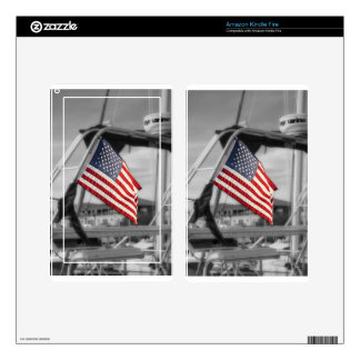 Nautical Patriot Kindle Fire Skins