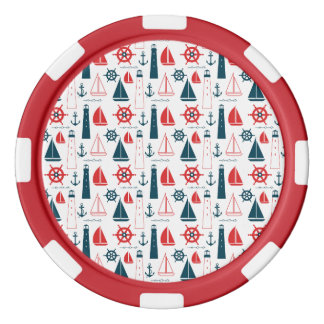 Nautical Patriot Poker Chips