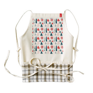 Nautical Patriot Zazzle HEART Apron