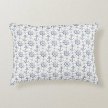 Nautical Pattern Accent Pillow