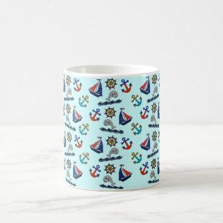 Nautical Pattern Coffee Mug