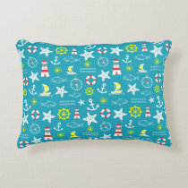 Nautical pattern decorative pillow