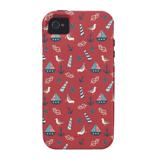 Nautical Pattern iPhone 4/4S Covers