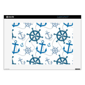 Nautical pattern laptop decals