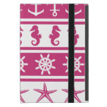 Nautical pattern on custom background color covers for iPad mini