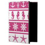 Nautical pattern on custom background color powis iPad air 2 case
