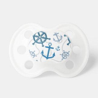 Nautical pattern pacifier