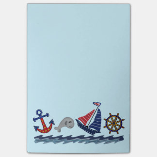 Nautical Pattern Post it Notes Post-it® Notes