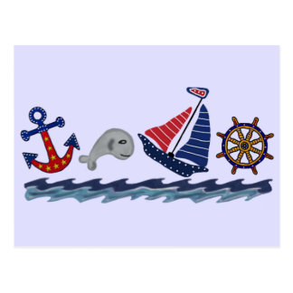 Nautical Pattern Postcard