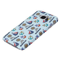 Nautical Pattern Samsung Galaxy S6 Case