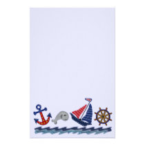 Nautical Pattern Stationery