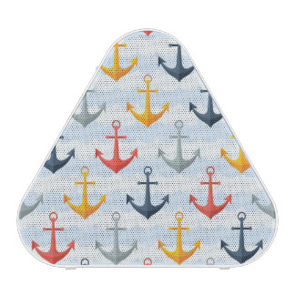 Nautical Pattern with Anchors Bluetooth Speaker