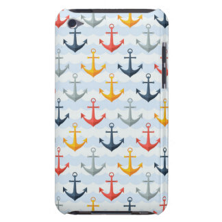 Nautical Pattern with Anchors Case-Mate iPod Touch Case