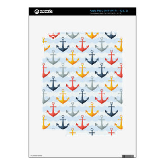 Nautical Pattern with Anchors iPad 3 Decals