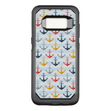 Professional Business Nautical Pattern with Anchors OtterBox Commuter Samsung Galaxy S8 Case