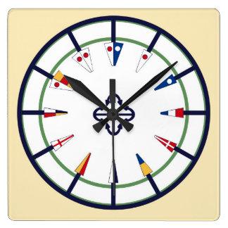 Nautical Pennant Flag Numeral Wall Clock