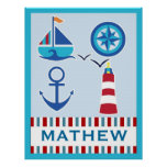Nautical Personalized Name Art Print