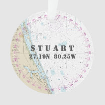 Nautical Photo 2-Sided Stuart FL Commemorative Ornament