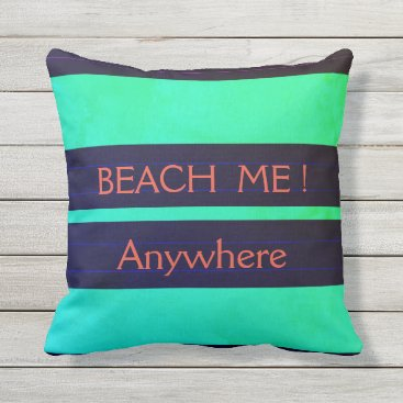 "Beach Themed ""Nautical Pillows_TEMPLATE__BEACH ME !_MED-Pillow Throw Pillow"