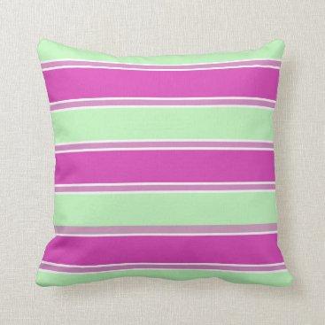 Beach Themed Nautical Pillows_Watermelon_Striped(c)-MED-Pillow Throw Pillow