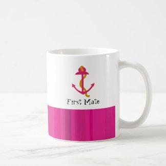 Nautical Pink Boat Anchor Coffee Mug