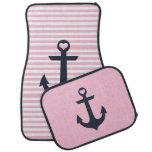 Nautical Pink Car Mats Floor Mat