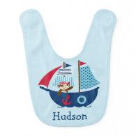 Nautical Pirate Baby Bib