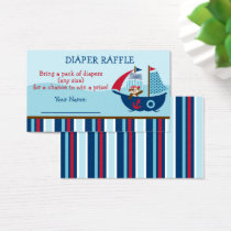 Nautical Pirate Diaper Raffle Tickets