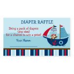 Nautical Pirate Diaper Raffle Tickets Double-Sided Standard Business Cards (Pack Of 100)