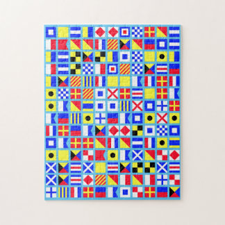 Nautical Pirate Flag Double Puzzle