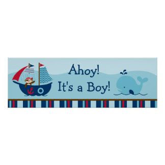 Nautical Pirate Personalized Banner Poster