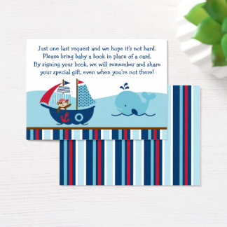 Nautical Pirate Whale Book Request Cards