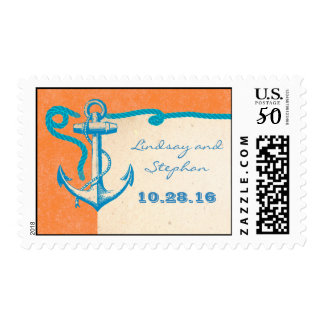 nautical postage stamps with anchor