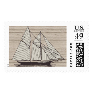 Nautical Postage with Old World Tall Ship
