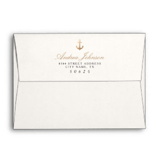 Nautical Pre-Addressed Envelopes