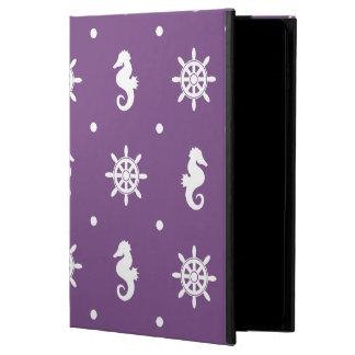 Nautical purple pattern powis iPad air 2 case