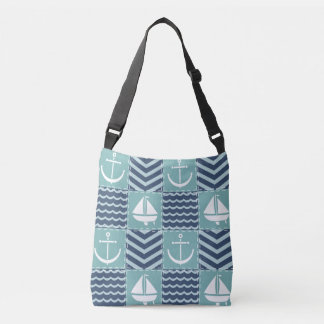Nautical Quilt All-Over-Print Bag