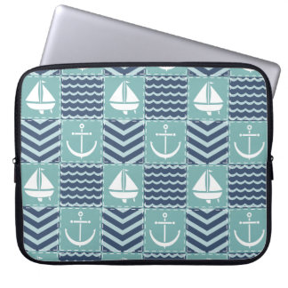 Nautical Quilt Laptop Sleeve